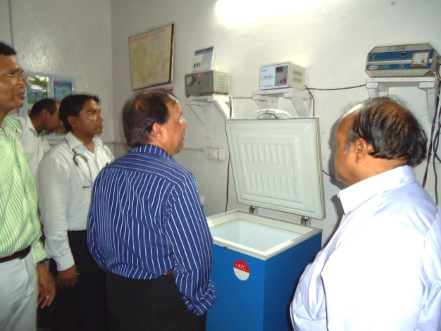 Visiting demonstration site in India