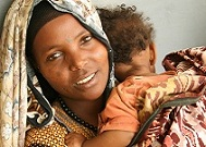 Ethiopian mother and baby. (Photo courtesy of Jhpiego.)