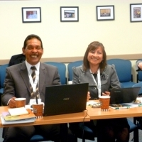 Dr. Jose De Gracia (Panama) and Midwife Mirian Solis (Peru), representatives of FLASOG and ICM.