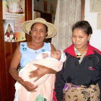 Women and baby, Madagascar. (Photo courtesy of Jhpiego.)