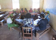 A focus group discussion with traditional birth attendants in Tanzania. (Photo courtesy of Jhpiego.)